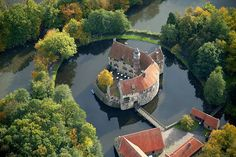 Vischering Castle in North Rhine-Westfalia is the most typical moated castle in the Münster region of Germany. This region has one of the highest German concentrations of castles, palaces and fortifications.