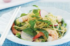 Use your noodle to create this fast and fresh Asian prawn salad - ready in less than half an hour!