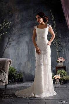 lost weight recently? wanna show off smokin body in modest way? -naomi neoh 2012 bridal lady mary wedding dress tiered lace cap sleeves