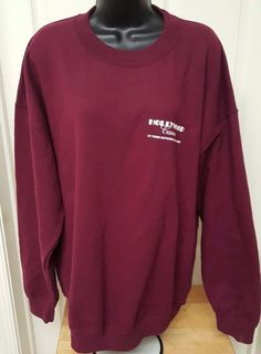 "Gildan Burgundy ""Hollywood Casino Penn National Race Course"" Sweatshirt Size XL #Gildan #Crewneck"