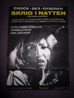 Scream... and Die!, 1974 - Danish poster