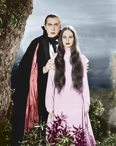 Bela Lugosi as Count Mora, with Carroll Borland, in Mark of the Vampire - colorized - updated Bela Lugosi ~~ 1935 ~~ colourised Classic Monster Movies, Classic Horror Movies, Classic Monsters, Frankenstein, Lugosi Dracula, Dramas, Carlin, Horror Monsters, Vampires And Werewolves