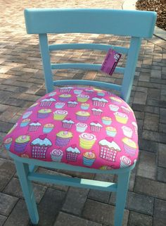 Cupcake chair would look cute in any girls room at a vanity, desk or as a great addition to her bedroom $45