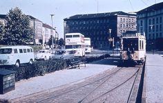 Berlin 1960er Strassenbahnlinie 3 am Fehrbellinerplatz