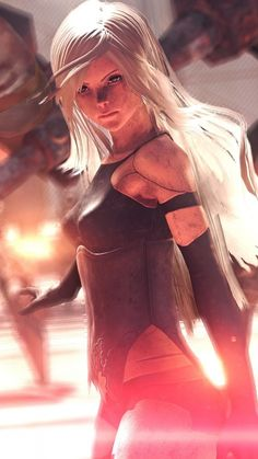 White hair, Nier: Automata, warrior, video game, wallpaper Source by wallpapersmug Final Fantasy, 3d Fantasy, Fantasy Warrior, Anime Fantasy, Fantasy Girl, Nier Automata A2, Neir Automata, Female Character Design, Character Art