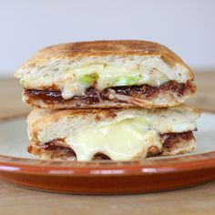 Nutella-Apple-And-Brie Grilled Cheese. Doesn't sound good to me, but I know bae will love it!