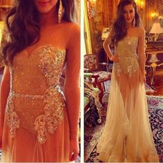 http://banquetgown.storenvy.com/products/16045089-2016-champagne-sheer-tulle-sexy-prom-dresses-with-long-sleeves-evening-gowns