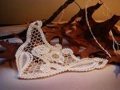 Autumn Wedding Bobbin Lace Necklace