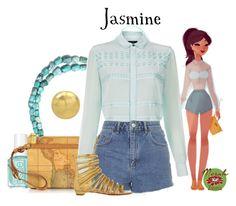 """Punziella: Jasmine"" by merahzinnia ❤ liked on Polyvore featuring Miss Selfridge, Alviero Martini 1° Classe, Paul Smith, Topshop and Christian Louboutin"