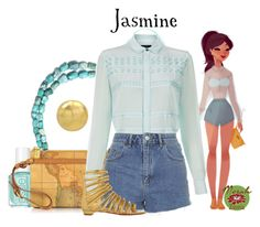 """Punziella: Jasmine"" by merahzinnia ❤ liked on Polyvore featuring Miss Selfridge, Alviero Martini 1° Classe, Paul Smith, Topshop and Christian Louboutin"