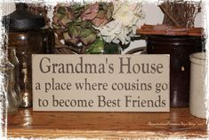 I wish all my grandchildren could play with each other at Grandma's House but they live too far away.  :-(