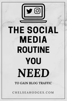 The social media routine you NEED to gain blog TRAFFIC! I spill my tips and tricks on how I utilize social media in this post. www.chelseahodges.com