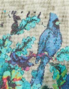 TEAL-GARDINIA PRINT SCARF Silk Scarves, Womens Scarves, Women Wear, Teal, Fabric, Prints, Design, Tejido, Tela