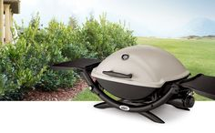 The Weber Q2200 is a great little portable gas grill.  Lots of room to cook, my favorite propane tailgating grill.