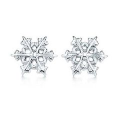 Tiffany  Co Silver Snowflake Earrings
