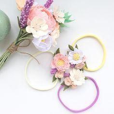 Мягкие плюшевые повязки по мотивам недавнего букета#цветыизфетра