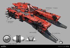 ArtStation - Destiny 2: Red Legion Command Ship, Dorje Bellbrook