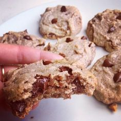 Healthy Almond Chocolate Chip Cookies