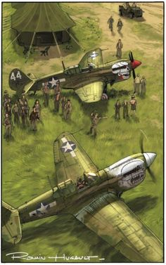 P-40 Warhawks from 'Angel Wings' illustrated novel