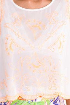 regata bordado neon - Blusas | Dress to