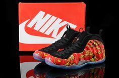 pretty nice 39b20 1e9cf Outlet Nike Air Foamposite One 2014 Red Black Mens Shoes