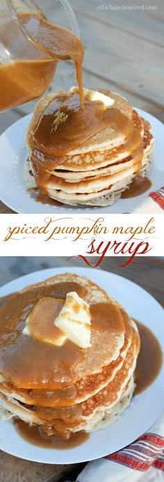 This Spiced Pumpkin Maple Syrup is breakfast heaven! It is so easy to make too.