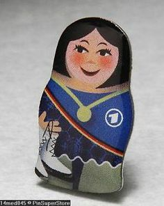 Olympic Pins Badge 2014 Sochi Russia TV1 Media Matryoshka Babushka Nesting Dolls | eBay