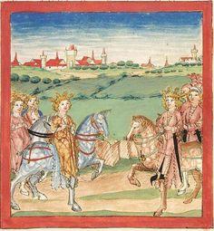 Pontus und Sidonia — Stuttgart (?) - Werkstatt Ludwig Henfflin,  um 1475  Cod. Pal. germ. 142  Folio 55r
