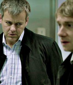 scary lestrade is scary (please don't eat john) #sherlock