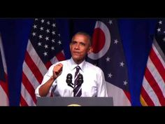 About 15 min in - should start at the right spot - President Obama TRASHES Donald Trump & GOP In Columbus, Oh FULL Speech 1...