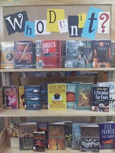 Westwood Public Library - Detective and Mystery Book Display -  Whodunit? - kc