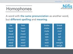 English homophones