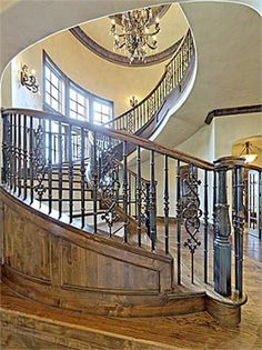 We have a spiral staircase in our studio, but it's not as amazing as this.