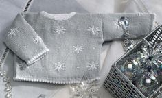 Book Special Peques 5 Autumn / Winter | 62: Baby Sweater | Light grey / White