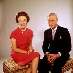 Sitting Portrait of England's Duchess and Duke of Windsor Premium Photographic Print