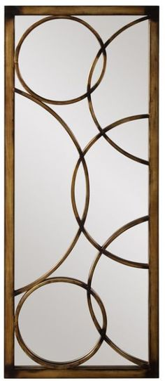"""Lloyd Decorative Metal Mirror 21""""x47""""x1"""""""