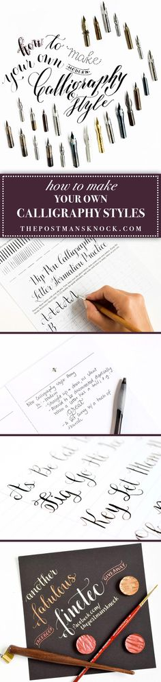 This blog post ventures to lend a bit of structure to your own development of unique modern calligraphy styles in five steps! Just work with the inspiration you have, and see where your new calligraphy style takes you!