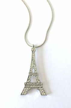 14K Rose Gold-plated 925 Silver Eiffel Tower Pendant with 18 Necklace Jewels Obsession Eiffel Tower Necklace