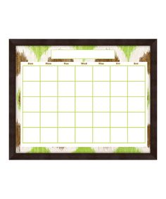 Take a look at this Green & Brown Wash Monthly Memo Board by PTM Images on #zulily today! $29.99, usually 80.00