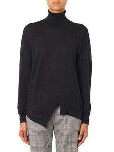 Stella McCartney Wool and silk-blend roll-neck sweater