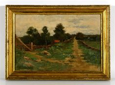 """Country Road,"" Dwight William Tryon, oil on panel, 24.13 x 36.83"", private collection."