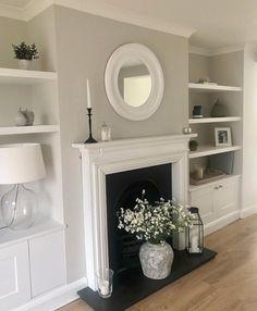 Alcove Ideas Living Room, Decor Home Living Room, Cottage Living Rooms, New Living Room, House Rooms, Home And Living, Living Room Designs, Room Ideas, Victorian Living Room