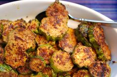 The best roasted zucchini. Ever.  MB review:  great seasoning blend.  Gotta try it on other roasted veggies, too.