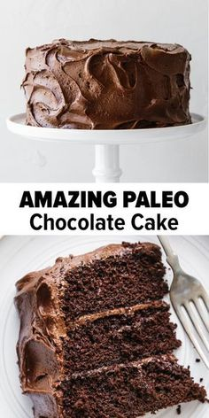 This paleo chocolate cake recipe is unbelievably rich, decadent and moist. It's the perfect paleo chocolate cake for birthdays or celebrations. It's gluten-free. dairy-free and ALWAYS a reader favorite! Best Moist Chocolate Cake Beatty's Chocolate Cake Dairy Free Bread, Dairy Free Snacks, Dairy Free Breakfasts, Dairy Free Recipes, Dairy Free Cakes, Dairy Free Deserts, Gluten Free Dairy Free Cake Recipe, Non Dairy Desserts, Healthy Breakfasts