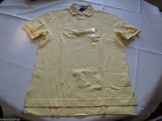 Mens Tommy Hilfiger Polo shirt S sm small solid NEW 7848710 Yellow Sorbet 757 #TommyHilfiger #polo