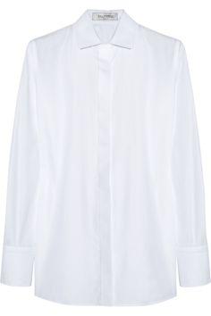 Valentino|Cotton and piqué shirt|NET-A-PORTER.COM