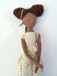 African American Handmade Rag Doll by RagDollyn on Etsy, $70.00