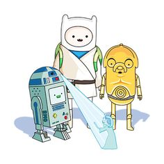 Adventure Time x Star Wars love this!