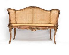 Louis XVI Style Cane Back & Seat Settee