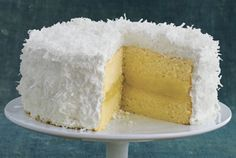 Fresh Lemon-Coconut Cake  - Redbook.com